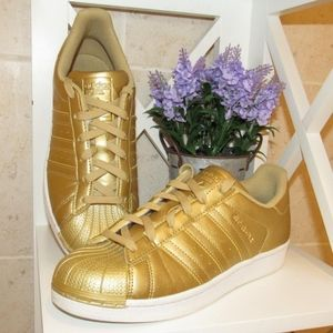 Adidas Superstar Limited Edition Gold Sneakers